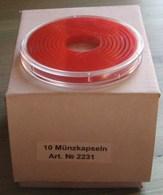LINDNER - CAPSULES Pour BOX De MONNAIES Avec INLETT ROUGE VIF - De 16 à 51 Mm (Boîte Entamée Avec 7 Capsules) - Matériel