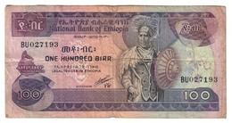 Ethiopia 100 Birr 1991 Pick 45 Signature 4 - Ethiopia