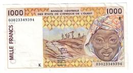 West African States (K - Senegal) 1000 Francs - West-Afrikaanse Staten