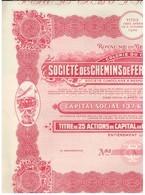 Action Uncirculed - 2 Actions - Société Des Chemins De Fer Vicinaux Du Congo - Titres De 1932 Et 1947 - Chemin De Fer & Tramway