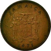 Monnaie, Jamaica, Elizabeth II, Cent, 1971, Franklin Mint, TB+, Bronze, KM:45 - Jamaique