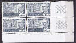 N° 1627 Personnages Célèbres: Maurice De Broglie  : Un Bloc De 4 Timbres Neuf Impeccable Sans Charnière - France