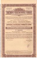Obligation Uncirculed  - Société Des Chemins De Fer Vicinaux Du Congo - Titre De 1934 - Chemin De Fer & Tramway