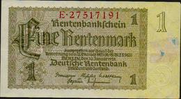 Eine Rentenmark. Rentenbankschein. Berlin, Den 30. Januar 1937. 2 Scans. Gut Erhalten - 1933-1945: Drittes Reich