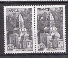 N° 1998 Série Touristique:Eglise De Saint-Saturnin : Une Paire De 2 Timbres Neuf Impeccable Sans Charnière - Neufs