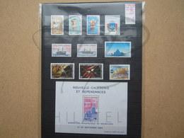 VEND BEAUX TIMBRES DE NOUVELLE-CALEDONIE , ANNEE 1984 + P.A. + BLOC , XX !!! (b) - Nueva Caledonia