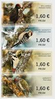 Aland 2019 Set 4 V  MNH Self-adhesive Woodpeckers Birds Bird  Oiseaux Oiseau - Picchio & Uccelli Scalatori