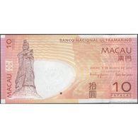 TWN - MACAU B.N.U. 80b - 10 Patacas 8.8.2010 Prefix BJ UNC - Macao