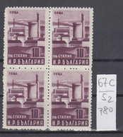 52K67C / 780 Bulgaria 1950 Michel Nr. 771 - Heizungszentrale The Heating Center ** MNH  Bulgarie Bulgarien - Nuovi