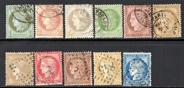 SERIE COMPLETE  CERES IIIème REPUBLIQUE   OBLITERES - 1871-1875 Ceres