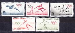 Ruanda Urundi Nr 219-223          Neufs Avec Charnière - Postfris Met Plakker - MH   (x) - 1948-61: Neufs