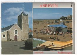 Carte De Saint Brevin Les Pins   - L'église Et La Plage - - Saint-Brevin-les-Pins