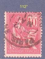 N°  112°  Mouchon  Oblitéré - 1900-02 Mouchon