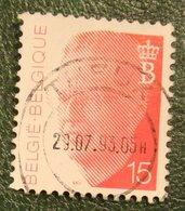 King Boudewijn 15 Fr Mi 2501 1992 Used/gebruikt/oblitere BELGIE / BELGIEN / BELGIUM / Belgique - Belgien