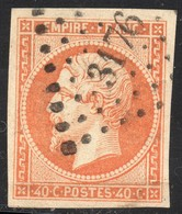 NAPOLEON ND N° 16  ORANGE OB. PC 3176 ST MALO TTB - 1853-1860 Napoleon III