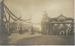 LAIGLE ( ORNE ) : RARE CARTE PHOTO - Place De La Gare - Commémoration De La Victoire 1918 - Cachet De La Poste 1919 - L'Aigle