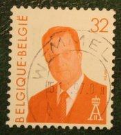 King Albert II 32 Fr Mi 2598 1994 Used/gebruikt/oblitere BELGIE / BELGIEN / BELGIUM / Belgique - Gebraucht