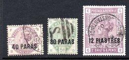 British Levant Queen Victoria Overprint Stamp Set. - British Levant