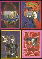 St Vincent,  Scott 2018 # 2221-2224,  Issued 1995,  4 S/S Of 1,  MNH,  Cat $ 26.00,  Nobel - St.Vincent (1979-...)