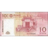 TWN - MACAU B.o.C. 108b1 - 10 Patacas 1.7.2013 Prefix BA UNC - Macau