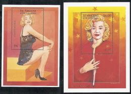 St Vincent,  Scott 2018 # 2213-2214,  Issued 1995,  2 S/S Of 1,  MNH,  Cat $ 13.00,  Monroer - St.Vincent (1979-...)
