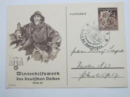 1939 , EGER - Sudetengau, Sonderstempel Auf WHW Karte - Deutschland