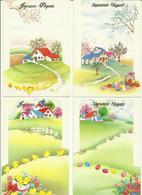 Lot 4 Cartes -- Joyeuses Pâques.      ( 2 Scans ) - Pâques