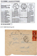 Poste Automobile Rurale De La Somme Circuit De St Valery CP N°3 Brutelles Type 3/34 - Marcophilie (Lettres)