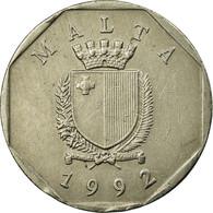 Monnaie, Malte, 50 Cents, 1992, TTB, Copper-nickel, KM:98 - Malta