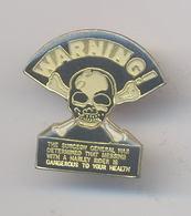 "Pin's ""WARNING : HARLEY RIDER"" - Motos"
