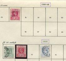 11585  GAMBIE   Collection Vendue Par Page  */ °n°29, 40, 41, 43   1901-05    TB - Gambie (1965-...)