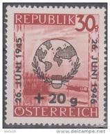 """Österreich 1946:  """"UNO-Tag Der Vereinten Nationen""""  Nr.775x Geriffelt  Postfrisch - 1945-.... 2ª República"""