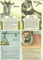 Lot 4 Cartes -- Astrologie Chinoise.      ( Voir Scans ) - Astrologie