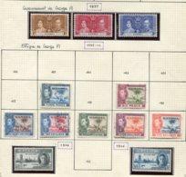 11587  GAMBIE   Collection Vendue Par Page  */ °n° 119/21, 128, 130, 131a/5, 136/7  1937-46    TB - Gambie (1965-...)