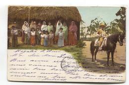 Mexico - Oficial De Rurales - Rural Officer, Peasants - 1902 Used Postcard - Mexico