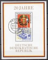 BLOC DDR Oblitéré 1969  MICHEL  : 28 - Bloques
