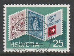 Switzerland 1990 Anniversaries 25 C  Multicoloured SW 1403 O Used - Suiza