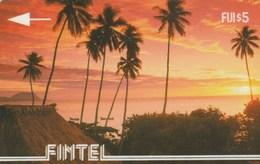 Fiji -  Palms At Sunset - 1CWFA - Fidji