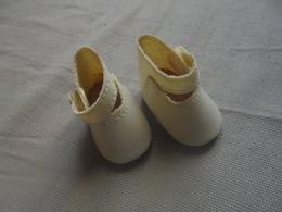 Ancien - Paire De Chaussures Pour Poupée - Autres Collections