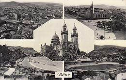 Algérie - Bône : Multivues - Place De La Gare, Vue Générale, Basilique, Le Stade, Plage St Cloud - CPSM Neuve - Annaba (Bône)