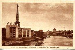 CPA - PARIS - EXPO INT. 1937 - VUE D'ENSEMBLE - PAVILLON DU THERMALISME - Expositions