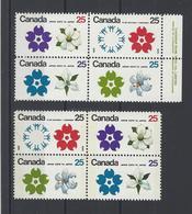 CANADA. YT  N° 429/432-429a/432a   Neuf **  1970 - 1952-.... Règne D'Elizabeth II