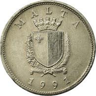 Monnaie, Malte, 25 Cents, 1991, Franklin Mint, TTB, Copper-nickel, KM:97 - Malta