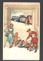 Carte Fantaisie / Fantasy Card - Train / Trein / Zug - Illustration - Trains