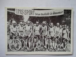 EQUIPE  NORD-EST   ILE-DE-FRANCE      (  TOUR DE FRANCE ? )   PUB  UNIS-SPORT      TTB - Ciclismo