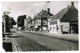 Adegem, Kruispunt Staatsbaan Dorpstraat, Café Bieren Aigle Belgica (pk55404) - Maldegem