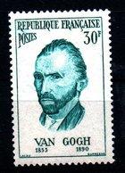 """FRANCE 1950-1959: 30F Turquoise """"van Gogh"""" - N° 1087** - Unused Stamps"""