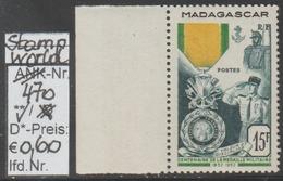 """1952 -  SM """"Französische Militär Medaille - Madagaskar"""" -  ** Postfrisch - Siehe Scan (stampw. 470) - Madagaskar (1960-...)"""