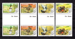 GRENADA      1979    Death  Centenary  Of  Sir  Rowland  Hill   Set  Of  4   Gutter  Pairs    Perf  14     MNH - Grenada (1974-...)