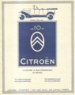 """PUB   """" 10 HP CITROEN """" 1922 ( 4 ) - Autres"""